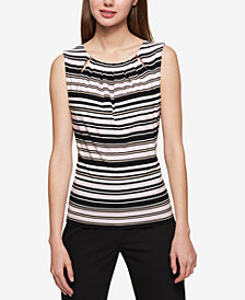 Tommy Hilfiger Embellished Striped Shell