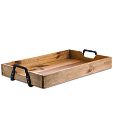 """Tabletops Unlimited 22"""" Rectangular Reclaimed Wood Tray"""