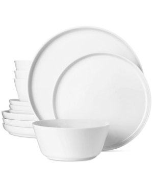 Closeout! The Cellar Modern Coupe 12-Pc. Dinnerware Set