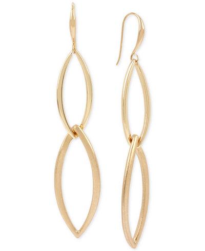 Robert Lee Morris Soho Interlocking Link Double Drop Earrings