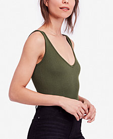Free People Ribbed Cropped Tank Top