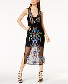 GUESS Cassia Embroidered Sequined Dress
