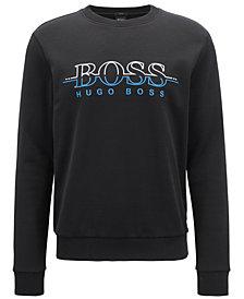 BOSS Men's Slim-Fit Embroidered Logo Sweatshirt