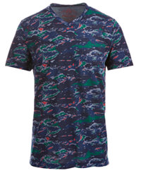 American Rag Men's Colorful Camo T-Shirt (Basic Navy)