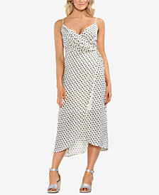 Vince Camuto Printed Wrap Dress