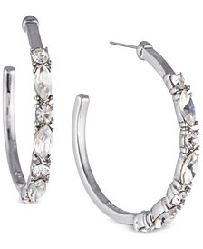 Givenchy Crystal Open Hoop Earrings