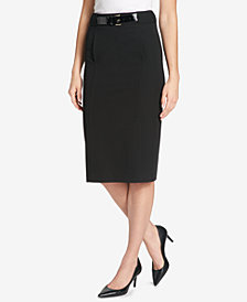 Tommy Hilfiger Belted Pencil Skirt