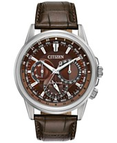Leather Luxury Citizen Eco Drive Watches Macy's