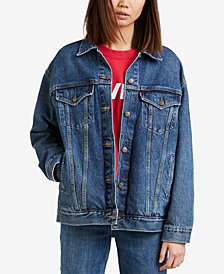 Levi's® Baggy Trucker Cotton Denim Jacket