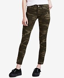711 Camo-Print Skinny Ankle Jeans