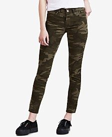Levi's® 711 Camo-Print Skinny Ankle Jeans