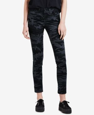 Levi's 711 Camo-Print Skinny Ankle Jeans