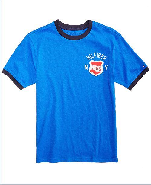 tommy hilfiger little boys patch cotton t shirt shirts tees