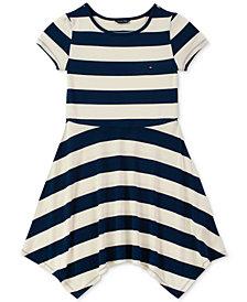 Tommy Hilfiger Big Girls Striped Handkerchief Hem Dress