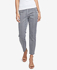 RACHEL Rachel Roy Gingham Slim-Leg Pants, Created for Macy's
