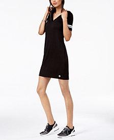 MICHAEL Michael Kors Striped-Sleeve Hooded Dress, Regular & Petite