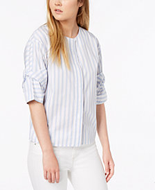 Calvin Klein Jeans Cotton Striped Button-Down Top