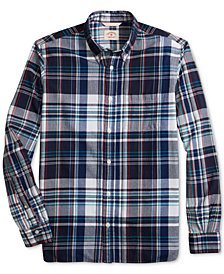 Brooks Brothers Men's Madras Plaid Slim Fit Shirt