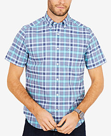 Nautica Men's Plaid Stretch Shirt