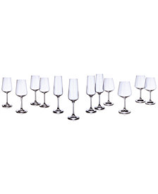 Villeroy & Boch Set of 12 Ovid Crystal Stemware, Service for 4