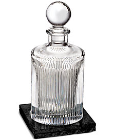 Waterford Aras Round Decanter with Marble Coaster