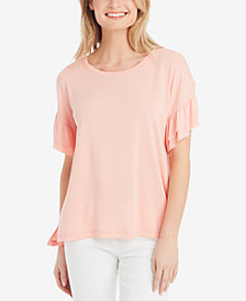 Jessica Simpson Olympia Ruffled-Sleeve T-Shirt
