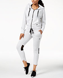 Calvin Klein Performance Mesh-Inset Hoodie & Slim Joggers