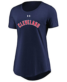 Under Armour Women's Cleveland Indians Team Font Scoop T-Shirt