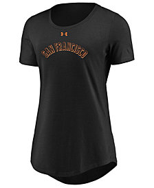 Under Armour Women's San Francisco Giants Team Font Scoop T-Shirt