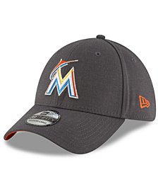 New Era Miami Marlins Charcoal Classic 39THIRTY Cap