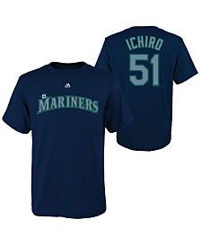 Majestic Ichiro Suzuki Seattle Mariners Official Player T-Shirt, Big Boys (8-20)