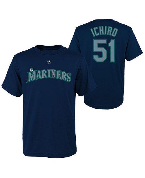 buy popular 23295 5456d Ichiro Suzuki Seattle Mariners Official Player T-Shirt, Big Boys (8-20)