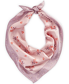 COACH Autumn Floral Silk Diamond Bandana Scarf
