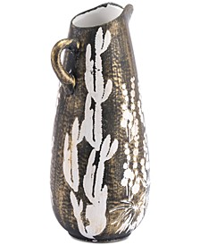 Jaci Small Jar Antique Gold & White