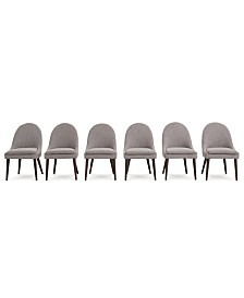 Everly Dining Chair, 6-Pc. Set (6 Round Back Side Chairs), Created for Macy's
