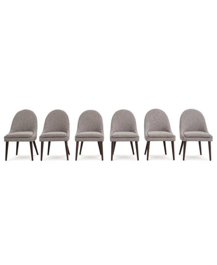 Furniture Everly Dining Chair, 6-Pc. Set (6 Round Back Side Chairs), Created for Macy's & Reviews - Furniture - Macy's