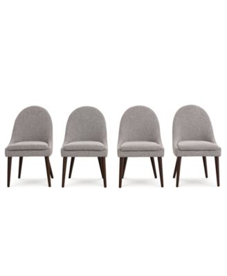 Everly Dining Chair, 4-Pc. Set (4 Round Back Side Chairs), Created for Macy's