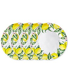 "Limonata 4-Pc. Melamine 10.5"" Dinner Plate Set"