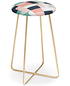 Deny Designs The Old Art Studio Abstract Geometric Counter Stool