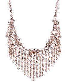 "Givenchy Crystal Fringe 19"" Statement Necklace"