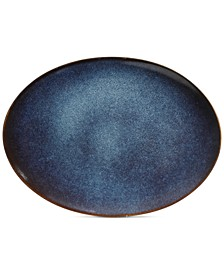 "Matisse Blue 15.85"" Serving Platter"