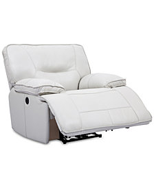 Mantella Leather Power Recliner with USB Power Outlet
