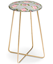 Deny Designs Marta Barragan Camarasa Botanical Blooming Counter Stool
