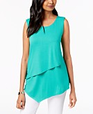 Alfani Petite Layered Asymmetrical Top Created for Macys