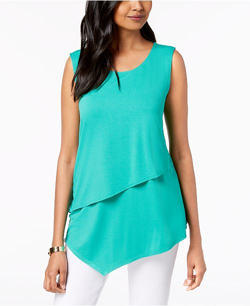 Tiered Asymmetrical Top, Created for Macy's