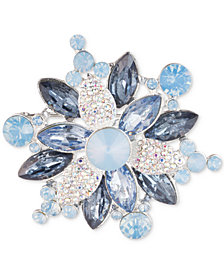 Anne Klein Silver-Tone Crystal Cluster Pin, Created for Macy's