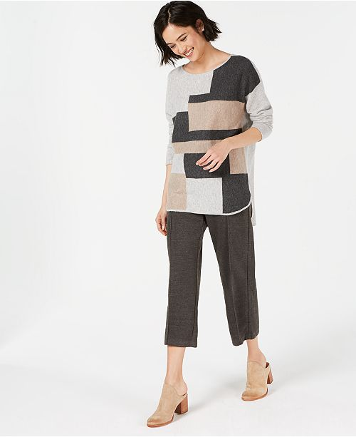 80e3e50d06 ... Charter Club Pure Cashmere Colorblock Sweater with Shirttail Hem in  Regular & Petite Sizes, Created ...