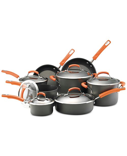 Rachael Ray Hard-Anodized Non-Stick 14-Pc. Cookware Set
