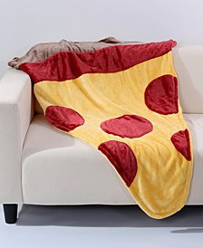 "VelvetLoft Pizza 44"" x 50"" Foot Pocket Throw"