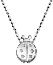 "Alex Woo Ladybug 16"" Pendant Necklace in Sterling Silver"